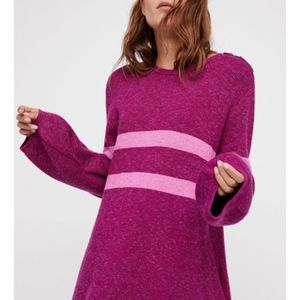 Free People On Your Team Sweater Mini Dress